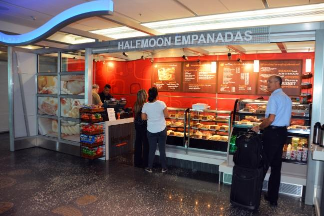 empanada vendor at Miami International Airport