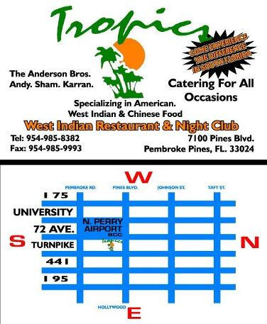 tropics guyanese nightclub / reggae soca, trini nightclubs in south florida